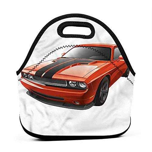 Neoprene Lunch Bag Boys Room,Modern Muscle Car Exotic,lunch bag for girls flowers]()