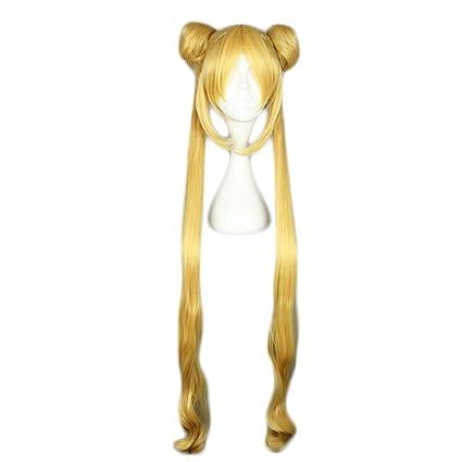 COSPLAZA Tsukino Usagi sailor moon largo Anime cosplay peluca pelo sintético