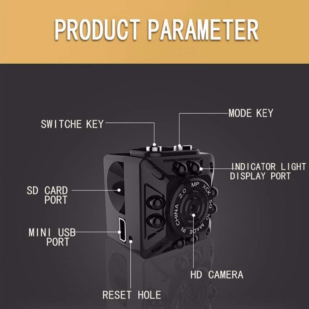 HENGTONGTONGXUN SQ10 Mini Camera Full HD 1080P Micro Camera IR Night Vision DV Camera Motion Sensor DVR Camcorder Mini Audio Recorder Easy to use Color : A