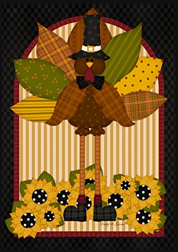 (Toland Home Garden 108270 Quilted Turkey 28 x 40 Inch Decorative, House Flag- 28