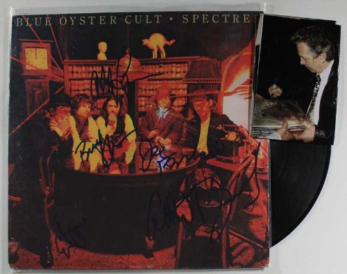 """Blue Oyster Cult Band Signed Autographed """"Spectres"""" Record Album w/ Proof Photos by Autograph Mall"""