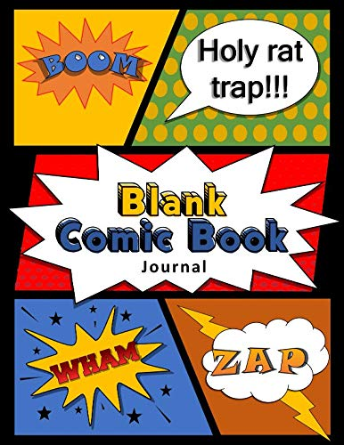 Blank Comic Book Journal: DIY Comic Book Notebook with Black Borders ()