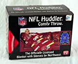 NFL Kansas City Chiefs Comfy Throw Blanket with Sleeves, Stripes Design