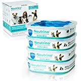 Neutrino 4 Pack Refills Fit Litter Genie Pail Waste Disposal Systems For Cats Dogs – 21 Foot Extra Long Capacity With Odor Smell Control Protection