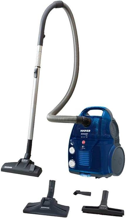 Hoover Sensory EVO SO50PAR, Aspirador sin Bolsa, Sistema Dual, alfombras, Suelos Duros, Cepillo parquet, Capacidad 3,2L/1,5L, 72dB, 550W, Color Azul, 3.2 litros, 72 Decibelios: Hoover: Amazon.es: Electrónica