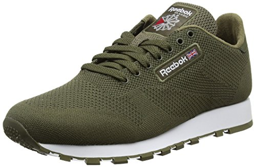 Verde army Green Reebok Ultraknit white Classic Sneaker Leather Uomo wzqAfxOq