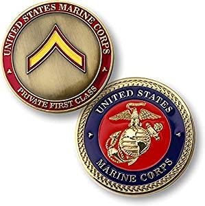 U.S. Marine Corps Private First Class Challenge Coin from Armed Forces Depot