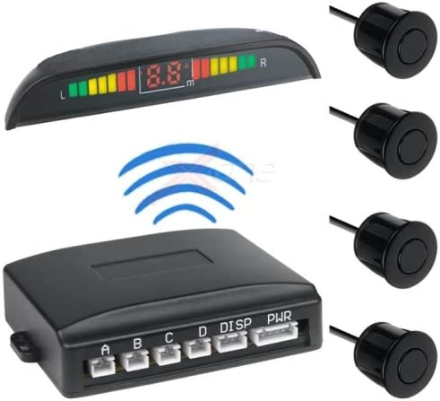 Kit de capteurs de stationnement /électronique pour Voiture sans Fil avec 4 capteurs de Signal Acoustique et visuel avec /écran /à LED de Couleurs universelles