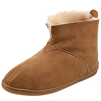 Amazon.com | Minnetonka Men's Sheepskin Slipper, Tan, 10 M US ...