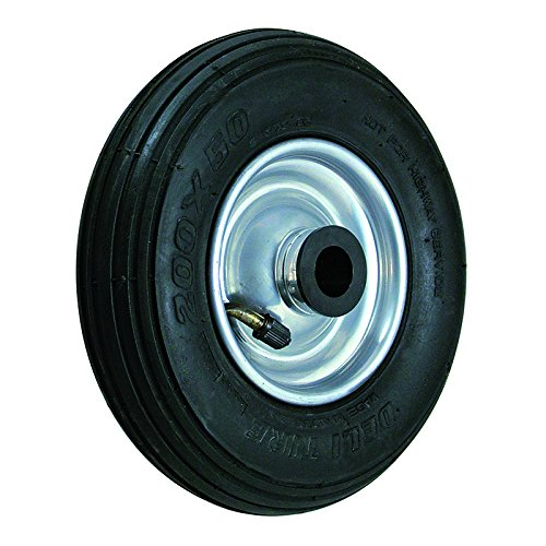BIL BZWPMB30020754D Series WPM Wheel, Diamond Pattern Pneumatic Tyre Steel Rim, 300 mm Diameter, 90 mm Tread, 75 mm Hub, 20 mm Bore, 250 kg Load, Black/Red BIL Group Ltd