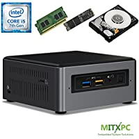 Intel BOXNUC7i5BNH Core i5-7260U NUC Mini PC w/ 32GB DDR4, 512GB NVMe M.2 SSD, 1 TB 2.5 HDD - Configured and Assembled by MITXPC