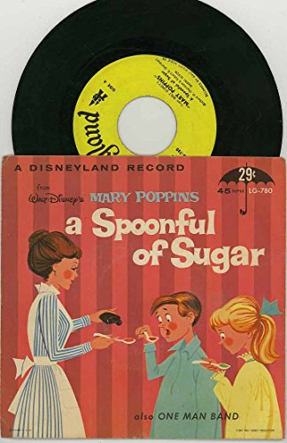 Walt Disney's Mary Poppins 45rpm Little Gem Record LG-780 - A Spoonful of Sugar & One Man Band