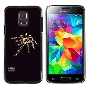 Design for Girls Plastic Cover Case FOR Samsung Galaxy S5 Mini, SM-G800 Tarantula Minimalistic Black OBBA