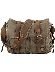SERBAGS Brand Military Style Messenger Bag - Premium Quality -