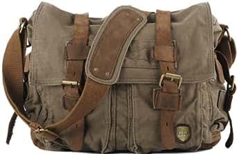 SERBAGS Military Style Messenger Bag - Premium Quality -