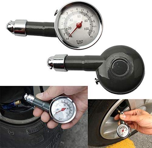 Baorio Auto KFZ Reifendruckmesser Reifendruckpr/üfer Luftdruck Manometer 7,5bar Messbereich 0,5-7,5 bar Geieignet f/ür alle Reifen mit Autoventilen Silber-Grau