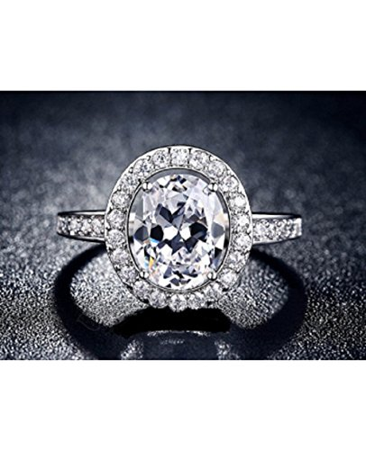 Top Quality Cubic Zirconia Engagement Wedding Rings for women(Size-UK-O)