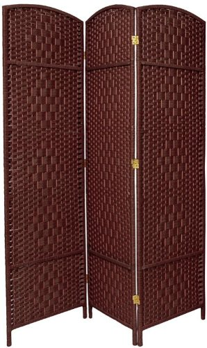 Best-Room-Divider-Deal-Quality-Value-Sturdiness-6ft-Diamond-Rattan-Style-Plant-Fiber-Folding-Privacy-Screen-7-Colors-4-Sizes