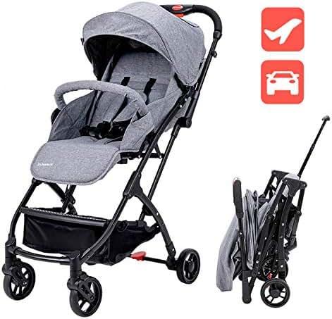 Lightweight Baby Stroller for Toddler Travel, Infant Convenience Stroller,Portable Airplane Travel Carry On Strollers,Folding Umbrella Pram (Grey)