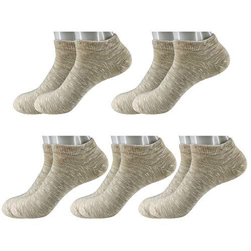5 Pair Premium Cotton Leisure Socks Low Show Socks And The Casual Short Socks (Tan Casual Socks)