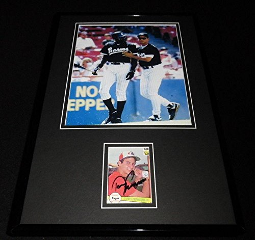 Michael Jordan Signed Display - Terry Francona Signed Framed 11x17 Photo Display White Sox w/Michael Jordan - Autographed NBA Photos