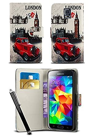 London Gadget Store Stylish Pattern Modern Print Design Wallet Flip Case Cover With Integrated Stand &