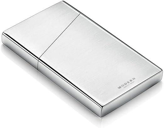 Estuche De Tarjetas Tarjeteros Visita Porta Tarjetas De Acero Inoxidable Caja De Tarjeta Portátil Caja De Tarjeta De Crédito (Color : Silver, Size : 10 * 6 * 1.2cm): Amazon.es: Hogar