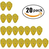 Smart Relief 20-Pack of Large Self-Adhesive Replacement TENS Pads for TENS & EMS Devices - 3'' x 1.8'' Reusable & Universal Snap-on TENS Pads