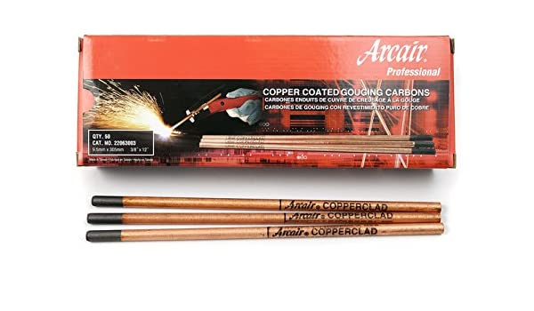 Arcair 22063003 3//8 x 12 Pointed Copper Coated Gouging Electrodes QTY 100