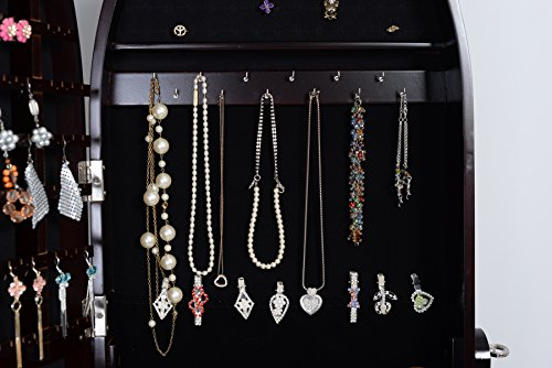 Organizedlife Brown Luxury Full Length Adjustable Mirror Oval Jewelry Armoire Cabinet with Drawers by Organizedlife (Image #4)