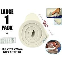Arrowzoom New 1 Piece/Roll of 20 X 70 X 1 Inches/50.8 X 177.8 X 2.5 cm Soft Density Upholstery Foam Cushion Sheet Padding AZ1137