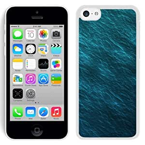 NEW Unique Custom Designed iPhone 5C Phone Case With Ripple Waves Background_White Phone Case