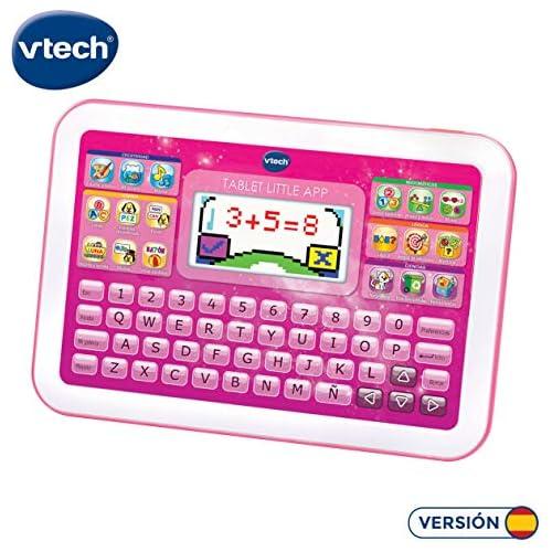 chollos oferta descuentos barato VTech Little App Tableta educativa Infantil Pantalla LCD a Color Juguete para aprender en casa Contenido Especial para niños enseña destrezas matemáticas lingüísticas Creativas y cognitivas Rosa