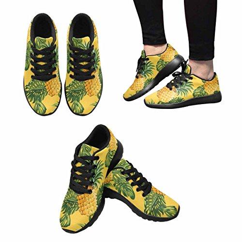 D-histoire Jogging Running Ananas Sneaker Et Tropical Laisser Les Femmes Casual Confort Sport Marche Chaussures De Course Noir