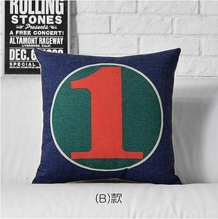 MAYUAN520 Cojines Pop Art Número Árabe 0-9 Arrojar ...