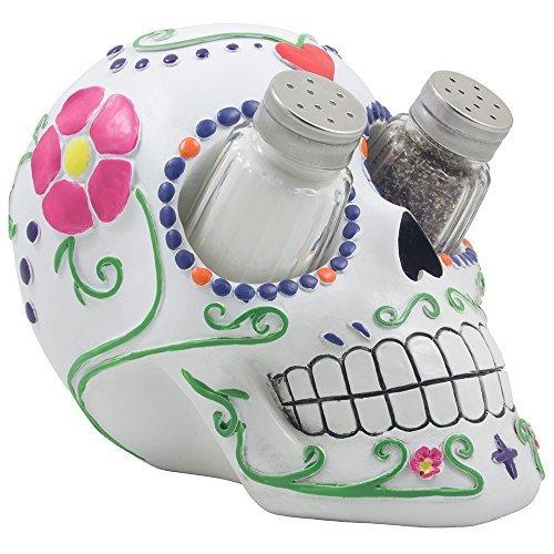 Sugar N Spice Sugar Skull Salt and Pepper Shaker Set By DWK