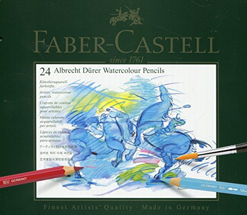 Watercolor Pencil Tin - Faber-Castel FC117524 Albrecht Durer Artist Watercolor Pencils In A Tin (24 Pack), Assorted