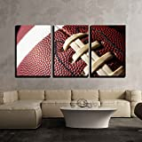 "wall26 - 3 Piece Canvas Wall Art - Football Ball - Modern Home Decor Stretched and Framed Ready to Hang - 16""x24""x3 Panels"