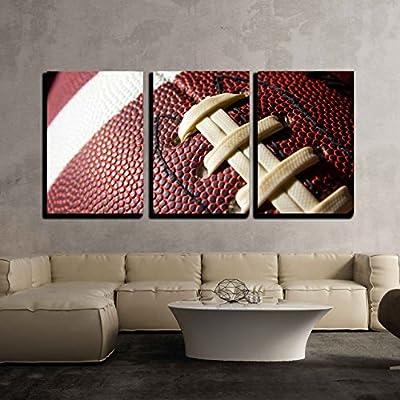 Closeup of Football - Canvas Art Wall Art - 16