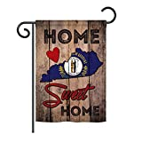 Ornament Collection GS191139-P3 State Kentucky Home Sweet Home Americana States Impressions Decorative Vertical 13″ x 18.5″ Garden Flag Set with Banner Pole Included Printed in USA Review
