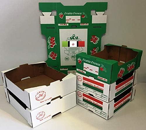 100 SCATOLE DI CARTONE BIANCHE  27,7x23,4x8,7 cm ideale per confezioni frutta