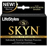 Gift Set of Lifestyles Skyn Polyisoprene 12pk And Wittle Wanachi (Blue)