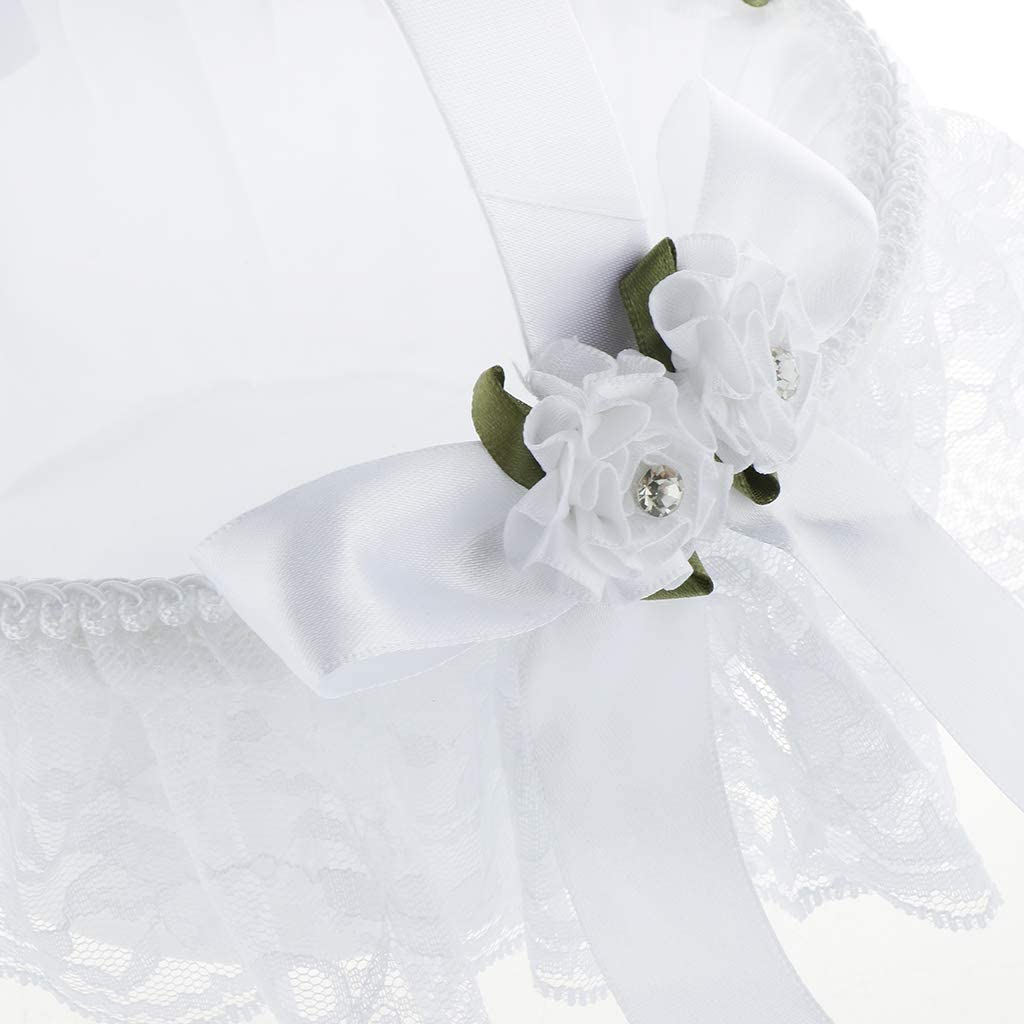 Fenteer Doppel Bowknot Blumenk/örbchen f/ür Hochzeit Verlobung Abschlussball und Cocktail Party