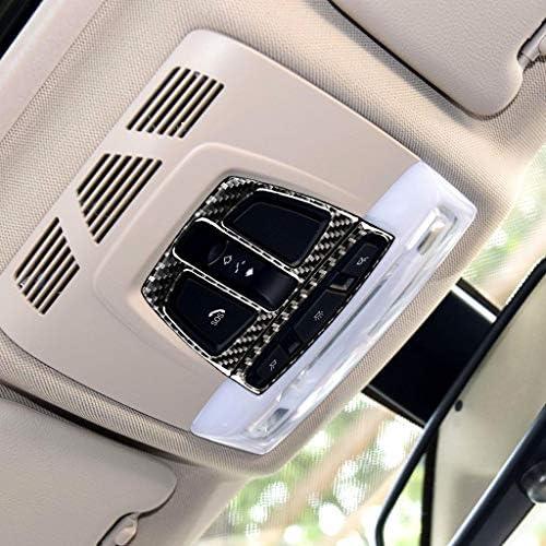 TOOGOO pour BMW F20 F30 F34 F32 X1 X5 F15 X6 F16 Int/érieur De Voiture D?me De Lecture D/écoration L/ég/ère Cadre en Fibre De Carbone Garniture Couverture Accessoires