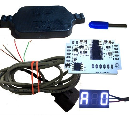 WB D1-DIY Wideband Controller and G1 LED AFR Display Kit (WHITE)