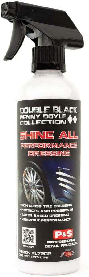 Amazon Com P S Detailing Products Shine All Performance Dressing Premium High Performance Water Based Tire Dressing Also Perfect For Vinyl Rubber Leather Etc Professional Gloss Finish L720p 1 Pint Automotive
