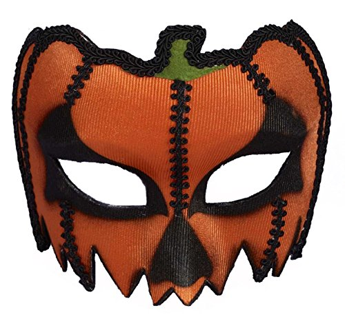 Forum Novelties 73645 Unisex-Adults Masks-Pumpkin with Eyeglass Frame, Red, Standard, Multicolor
