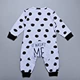 Gprince Fashion Baby Clothes Newborn Toddler Long-Sleeved Dot Jumpsuit Infant Clothing Set Outfits