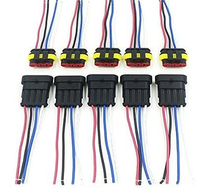 amazon com cnkf 5 sets 4 pin amp superseal car waterproof rh amazon com Automotive Electrical Wiring Harness Automotive Electrical Wiring Harness
