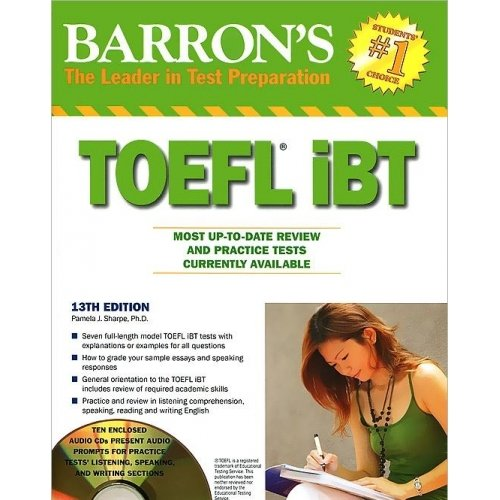 Barron's Toefl IBT Review and Practice Tests 10 Cds 13th Edition